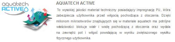 Kurtki zimowe 4F - opis membrana Aquatech Active | sportowybazar.pl