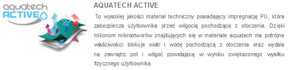 Kurtki 4F - opis membrana Aquatech Active | sportowybazar.pl