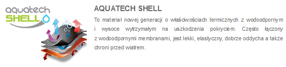 Kurtki 4F - opis membrana Aquatech Shell | sportowybazar.pl