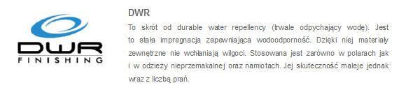 Kurtka 4F - opis impregnacji DWR Finishing | sportowybazar.pl