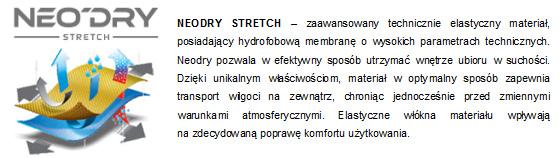 Kurtki 4F - opis materiału NeoDry Stretch | sportowybazar.pl