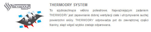 Bielizna termoaktywna BIMP001 marki 4F - tkanina ThermoDry