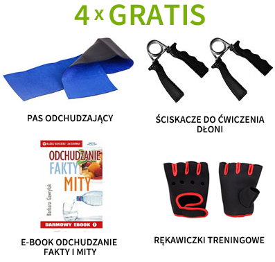 pas odchudzający, ściskacze do ćwiczenia, rękawiczki treningowe oraz e-book gratis!