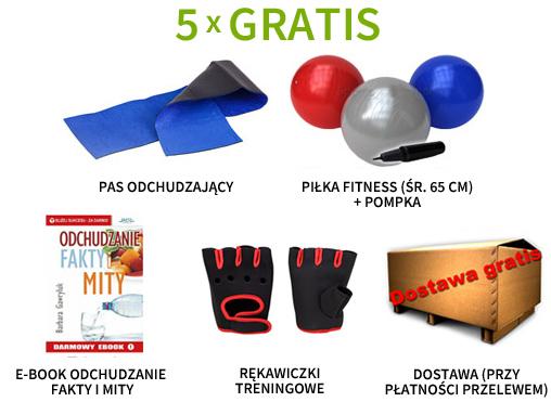 Pas neoprenowy, piłka fitness, rękawiczki treningowe, e-book i dostawa  gratis!