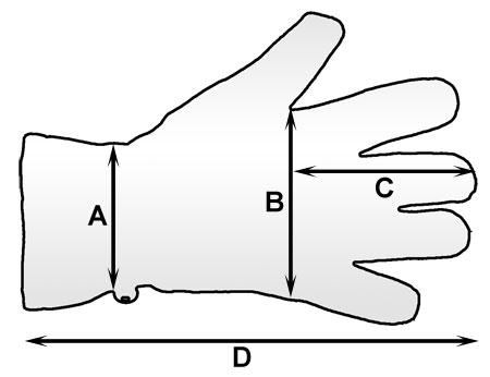 Sposób mierzenia rękawiczek Hi-Tec | sportowybazar.pl