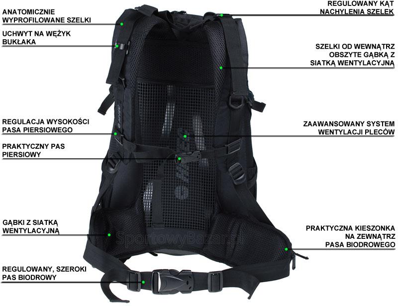 Plecak trekkingowy Ambatha marki Hi-Tec - infografika dotycząca przedmiotu