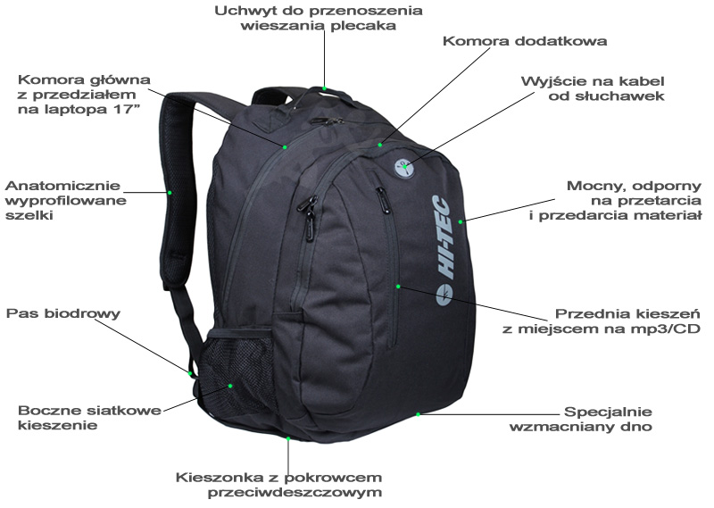 Plecak Tamuro marki Hi-Tec - opis plecaka | sportowybazar.pl