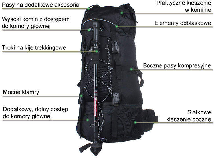 Plecak V-Lite Tosca marki Hi-Tec w sklepie sportowybazar.pl
