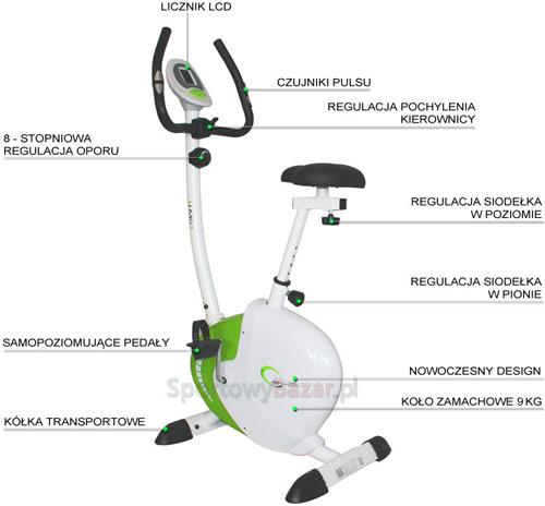 Rower magnetyczny M9239 HMS - infografika | sportowybazar.pl