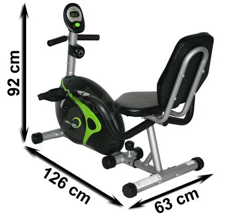 Rower magnetyczny poziomy, leżący R9203 HMS - wymiary | sportowybazar.pl