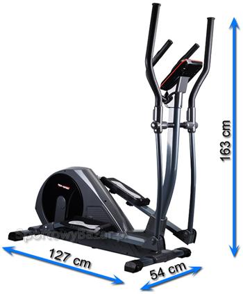 Orbitrek elektromagnetyczny HS-55E ELITE marki Hop-Sport - wymiary
