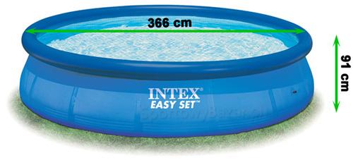 Basen rozporowy EasySet 28146 marki Intex - wymiary