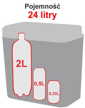 Lodówka turystyczna 12/230V Hot&Cold Atlantic 24L - pojemność | sportowybazar.pl