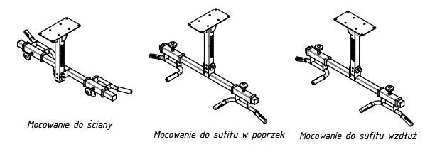 Drążek uniwersalny do ściany i sufitu MS-D102 marki Marbo | sportowybazar.pl