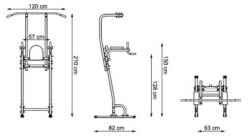 Poręcz z drążkiem MH-U102 firmy Marbo - wymiary
