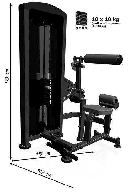 Maszyna 2w1 MP-U220 marki Marbo - wymiary | sportowybazar.pl