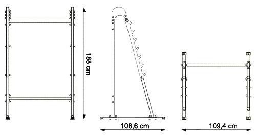 Stojaki wielopoziomowe pod sztangę MH-S104 marki Marbo - wymiary
