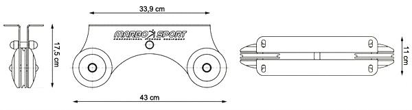 Wyciąg górny do sufitu MH-W105 marki Marbo - wymiary