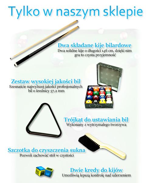Stół bilardowy VIP EXTRA 8 FT marki Spensers - zestaw