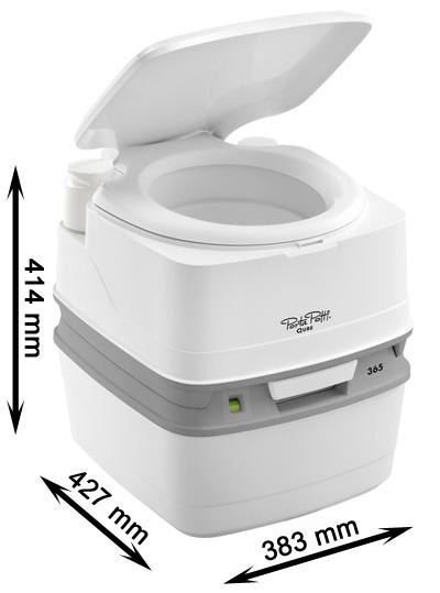 Wymiary toalety Porta Potti 365 Thetford w sklepie sportowybazar.pl